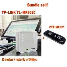 Unlocked ZTE MF821 4G LTE FDD USB Modem Hotspot plus TP-Link MR3020 bundled sale