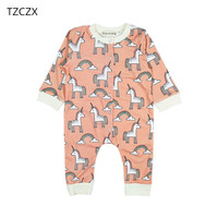 TZCZX 5621 New Autumn Children Baby Boys Girls Rompers Novelty Cartoon Printed Jumpsuit For 6 To
