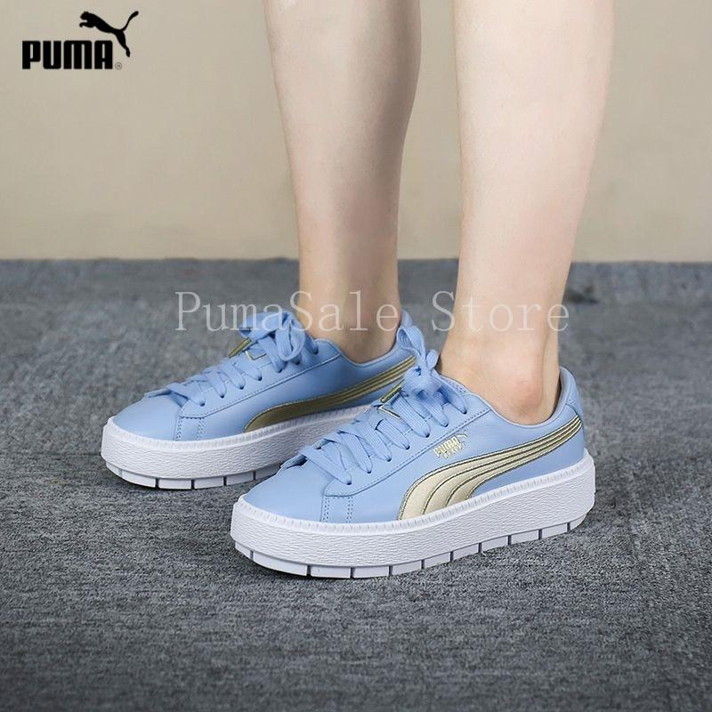 a0c68c95ea1 Pumas Shoes Rihanna Women s Platform Trace Varsity Sneakers Rihanna 4  Generation Basket ...