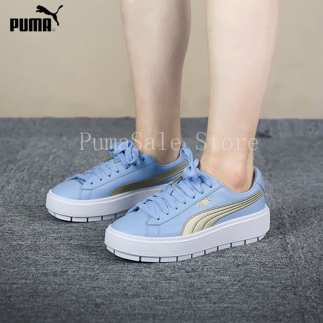 017c28b41be6d2 Pumas Shoes Rihanna Women s Platform Trace Varsity Sneakers Rihanna 4  Generation Basket 367728-03 Thick Bottom Shoes 35.5-39