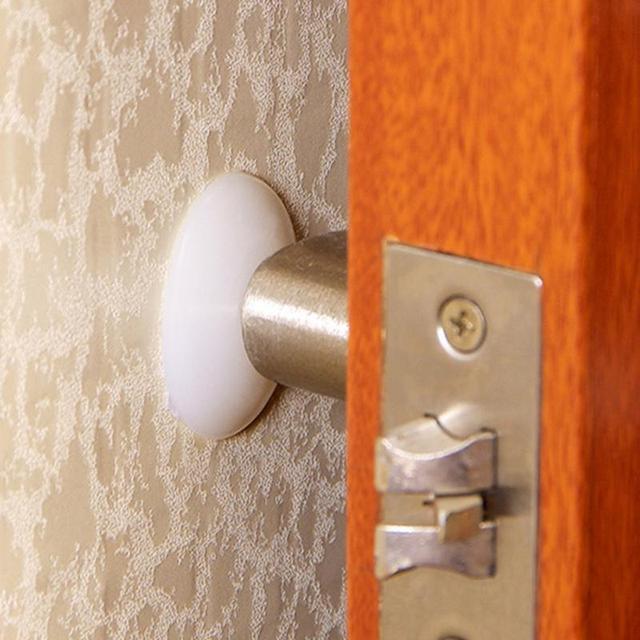 Silicone porta Silenciosa parede traseira anti colisão anti esteira do touch pad maçaneta da porta fechadura da porta de proteção almofada de choque pad
