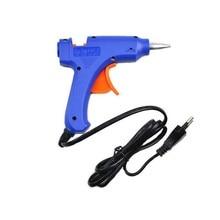 Alloy Nozzle 20W EU Plug Hot Melt Glue Gun 7mm Glue Stick Industrial Mini Guns Electric Heat Temperature Tool