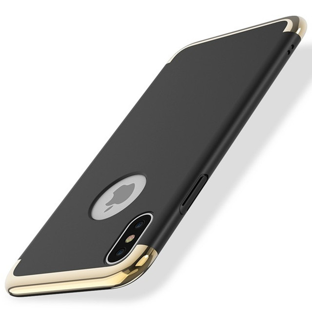 new style a7cb1 91fbf US $3.99 |For iPhone X Cases Luxury 3 in 1 Plating Metal Hybrid Hard PC  Plastic Back Cover Case For Apple iPhone X Phone Case Capa-in Fitted Cases  ...