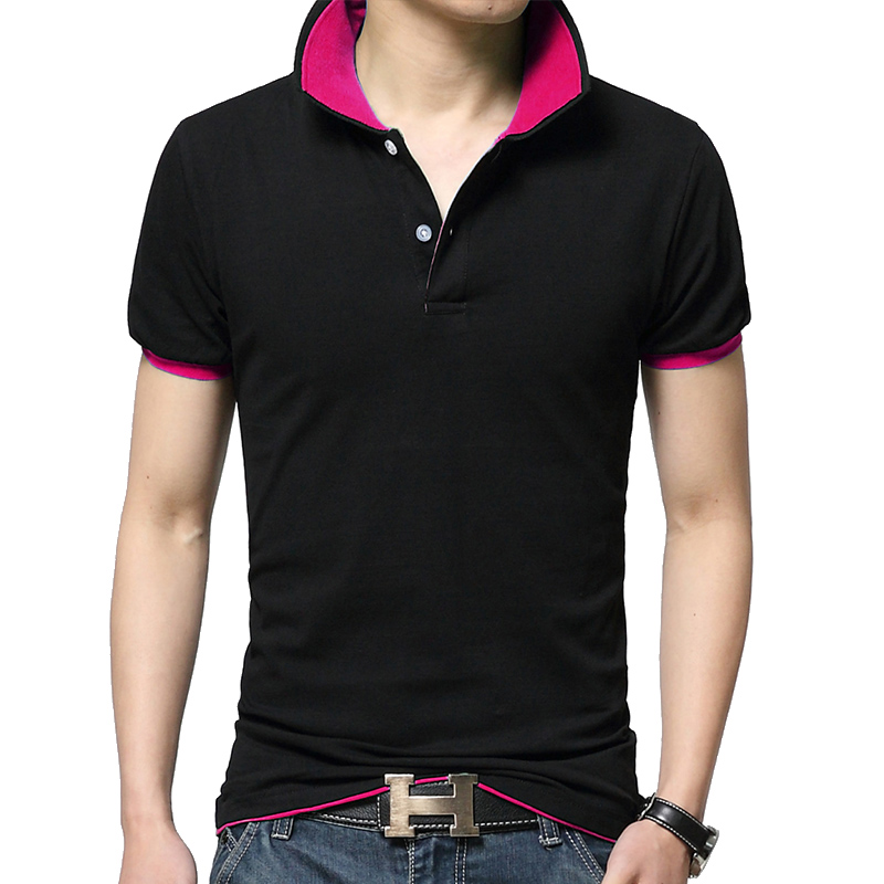 Summer   POLO   slim two-color turn-down collar pique mesh breathable   polo   shirts advertising shirt for Men fashion   Polos   Men