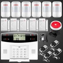 Fuers GSM PSTN Главная охранной сигнализации с ЖК Клавиатура Беспроводная GSM Сигнализация Пульт Дистанционного Управления Охранной Сигнализации