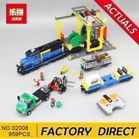 Lepin 02008 City Series The Cargo Train Set Building Blocks Bricks 60052 RC Train Children Educational
