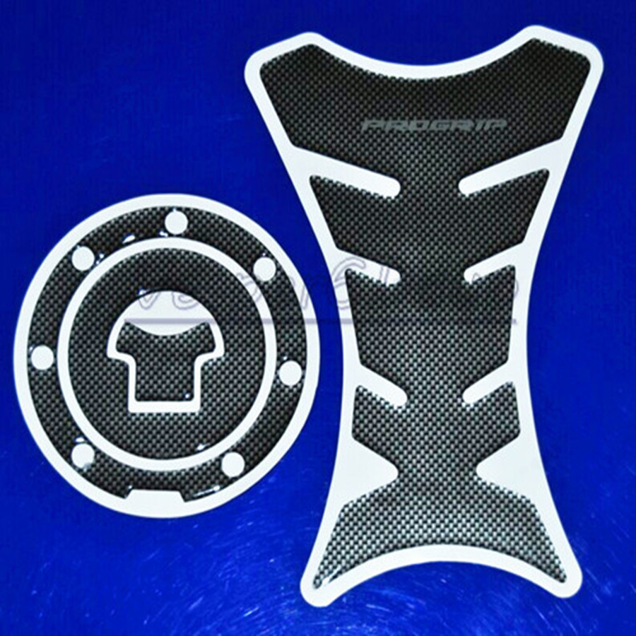 Motorcycle Carbon Fiber Fuel Tank Pad Decal Protector Stickers Carbon Fiber Fuel Gas Cap Cover For Honda CBR NSR VTR 125 250 400 motorcycle gas fuel pump unit assembly for honda cbr400 nc23 nc29 vt600 vt700 shadow 400