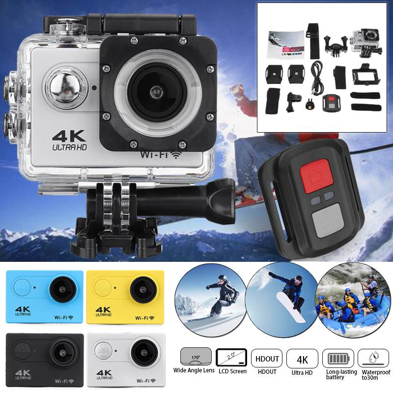 Action-Camera Wifi Extreme 4k Romote-Control Waterproof 1080p for Ultra-Hd 30m with 170d-Screen