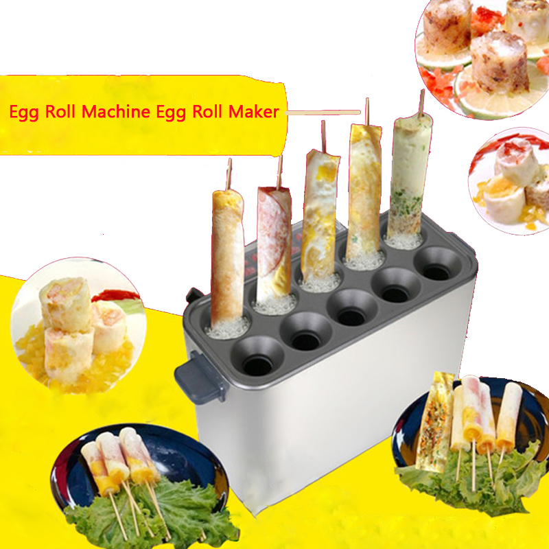 Commercial Gas Egg Roll Machine Egg Roll Maker Hot Dog Vending Machine Hot Dog Maker Omelet Maker Egg Roll Toaster 2017 lpg 10 tubes egg sausage maker korean roll maker barbecue pill maker eggs roll sausage machine