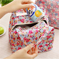 2017 New Lunch Bag Pouch Storage Box Flowers Insulated Thermal Bento Cooler Picnic Tote High Quality Free Shipping N563