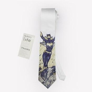 Free Shipping New Male men's fashion casual MAN Fashion Tie British printed Groom Ceremony Dress necktie Batman party club 8cm