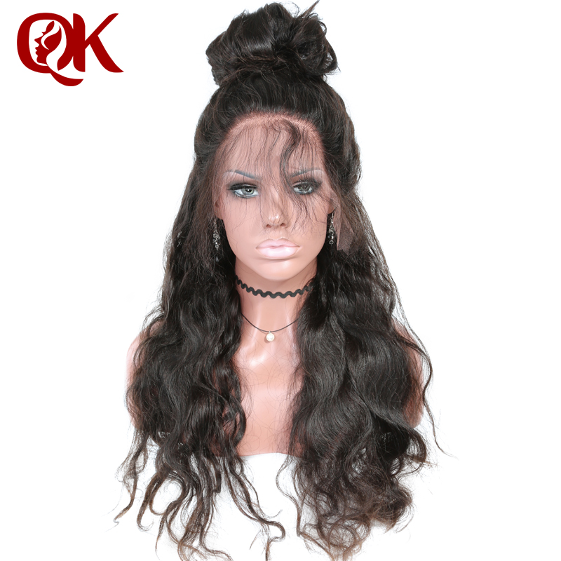 QueenKing hair full glueless lace human hair Wigs for Black Women Natural Color Body Wave Preplucked