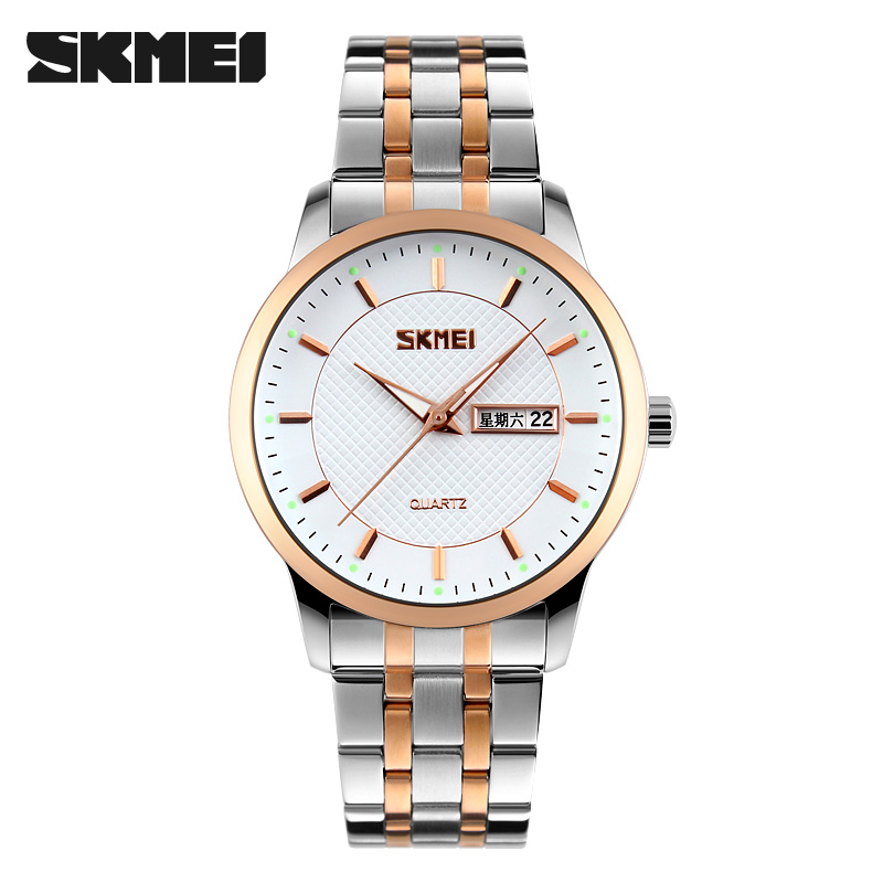 SKMEI New Luxury Top Brand Quartz Watches Men Fashion Casual Business Watches Waterproof Wristwatches Male Relogio Masculino skmei luxury brand men business quartz watches 30m waterproof fashion watch leather strap wristwatches relogio masculino 9117