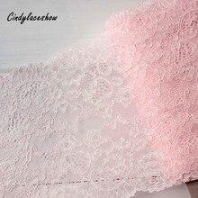 1 ярд 17 см ширина розовый спандекс эластичное белье кружево отделка цветок стрейч шитье DIY аппликации кружевная ткань для нижнего белья бюстгальтер