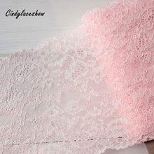 1 ярд 17 см ширина розовый спандекс эластичное белье Кружева отделка цветок стрейч шитье DIY аппликации кружева ткань для нижнего белья бюстга...
