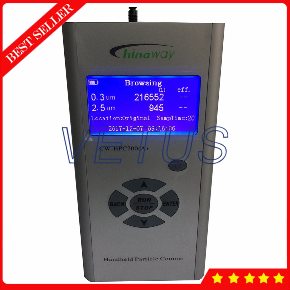 Air Quality Purification Efficiency Detector Measurement Device PM2.5 Dust Analyzer with CW-HPC200A Handheld Particle Counter mini portable high precision indoor haze dust pm2 5 meter detector air monitor air particle counter ht 403 lcd with backlight