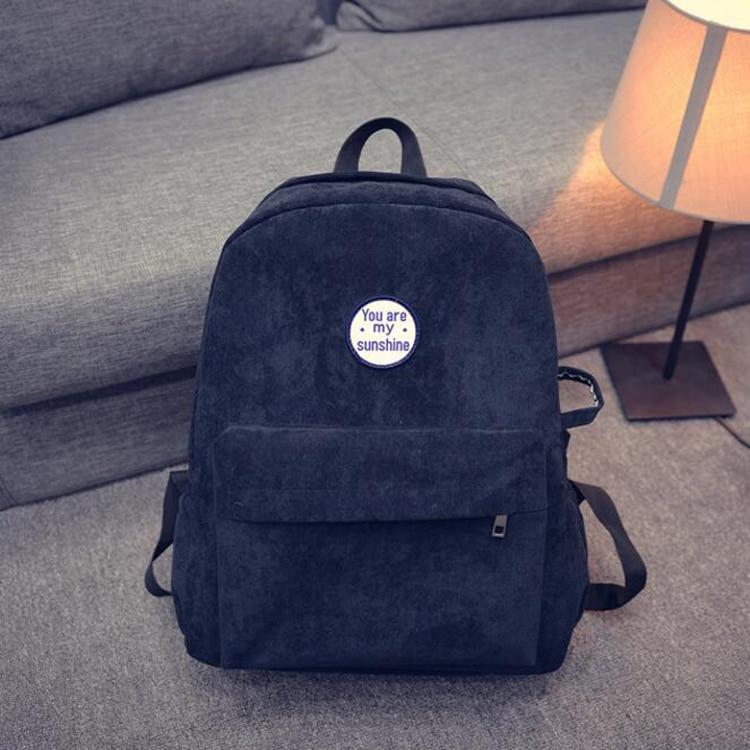 Rucksack Schulter Design Frauen Minimalis 100 Bagpack Weibliche Schule Für Mädchen lot Samt Retro Einfache Pcs Tasche gq7gaX