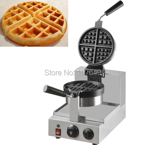 110v 220V Commercial Use Non-stick Electric Rotary Waffe Maker Iron Machine Baker