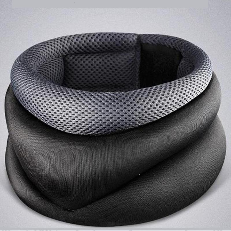 Neck Cervical Traction Collar Soft Support Orthopedic Infrared Magnetic therapy Neck Massage Device Relief Pain Brace Posture L4 high end health care neck cervical traction ems therapy massage collar infrared heating magnet vibration massager pain relief