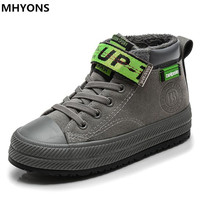 MHYONS 2018 New winter Fashion Children boots Kids snow boots boys running shoes Flat with Plush warmth sports Sneakers Boot