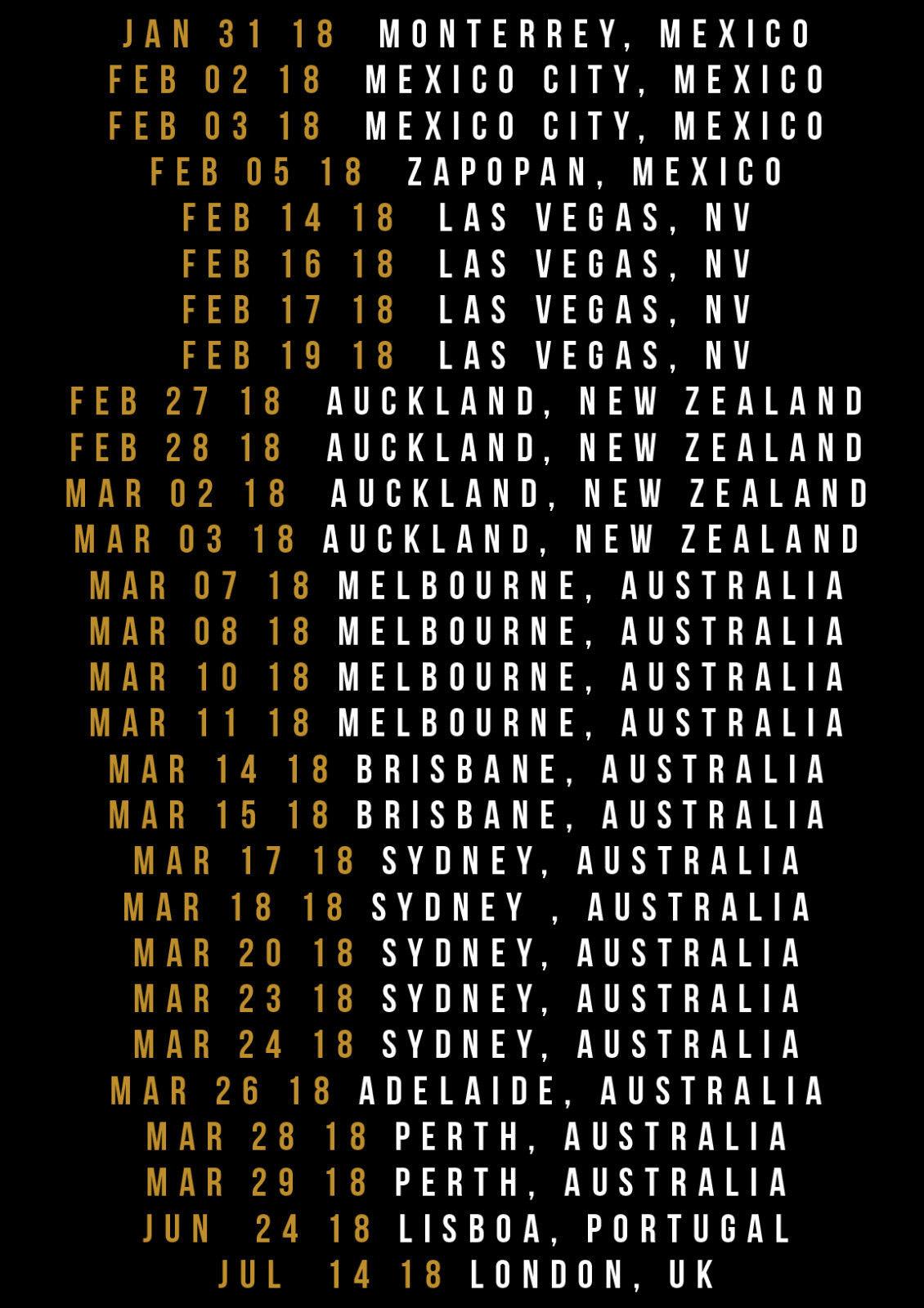 New Bruno Mars 24K Magic World Tour 2018 T Shirt MenS Black Size S To 4Xl