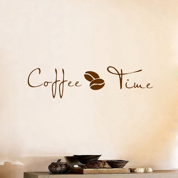 Coffee Wall Art Decal Sticker , vinyl coffee wall stickers for coffee shop or office decor 1