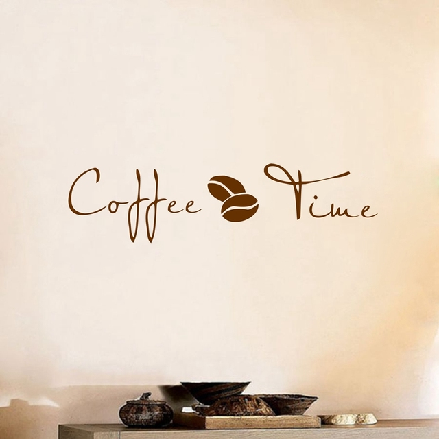 Ordinaire Coffee Wall Art Decal Sticker , Vinyl Coffee Wall Stickers For Coffee Shop  Or Office Decor
