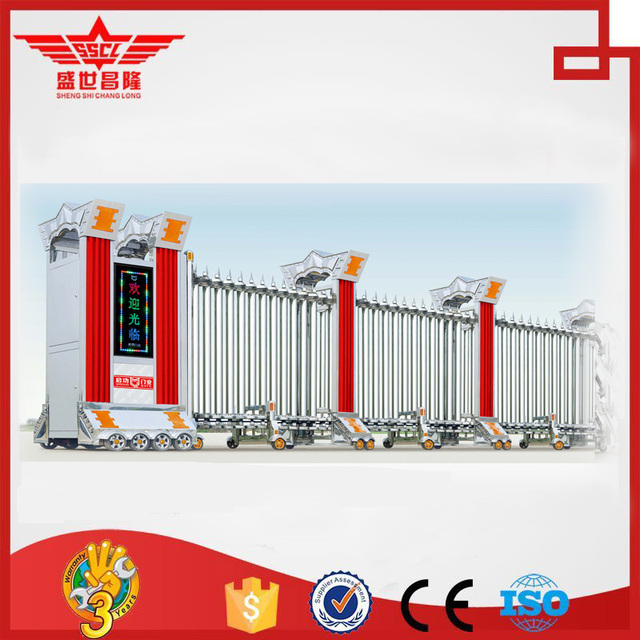 Industrial retractable main gate tubular gate design Modern ...