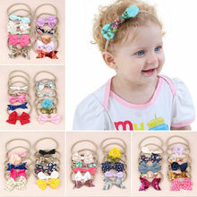 Kids Girls Baby Toddler Bow Headband Hair Band Accessories Headwear Head Wrap 10 Hair Bands newborn toddler headband children s cute hair accessories head band fashion baby flowers girl elastic bands headwear