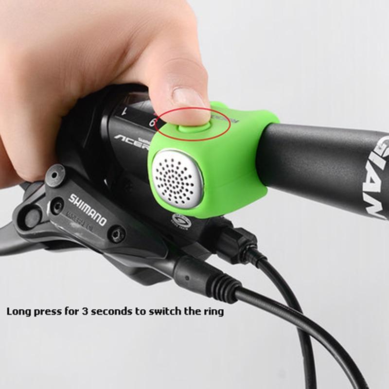 Cycling Bike Electric Bell Rainproof Bells MTB Road Bicycle Handlebar Silica Gel Bell Super Loud Safety Bicycle Alarm RK0043 (9)