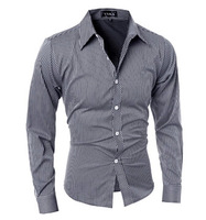2017 590840 men's casual shirts men designer button down for mens dress shirt french cuff long sleeve plaid real madred jersey 4