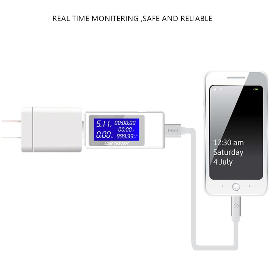 9 10 in 1 DC USB Tester Current 4 30V Voltage Meter Timing Ammeter Digital Monitor 9/10 in 1 DC USB Tester Current 4-30V Voltage Meter Timing Ammeter Digital Monitor Cut-off Power Indicator Bank Charger 40%off