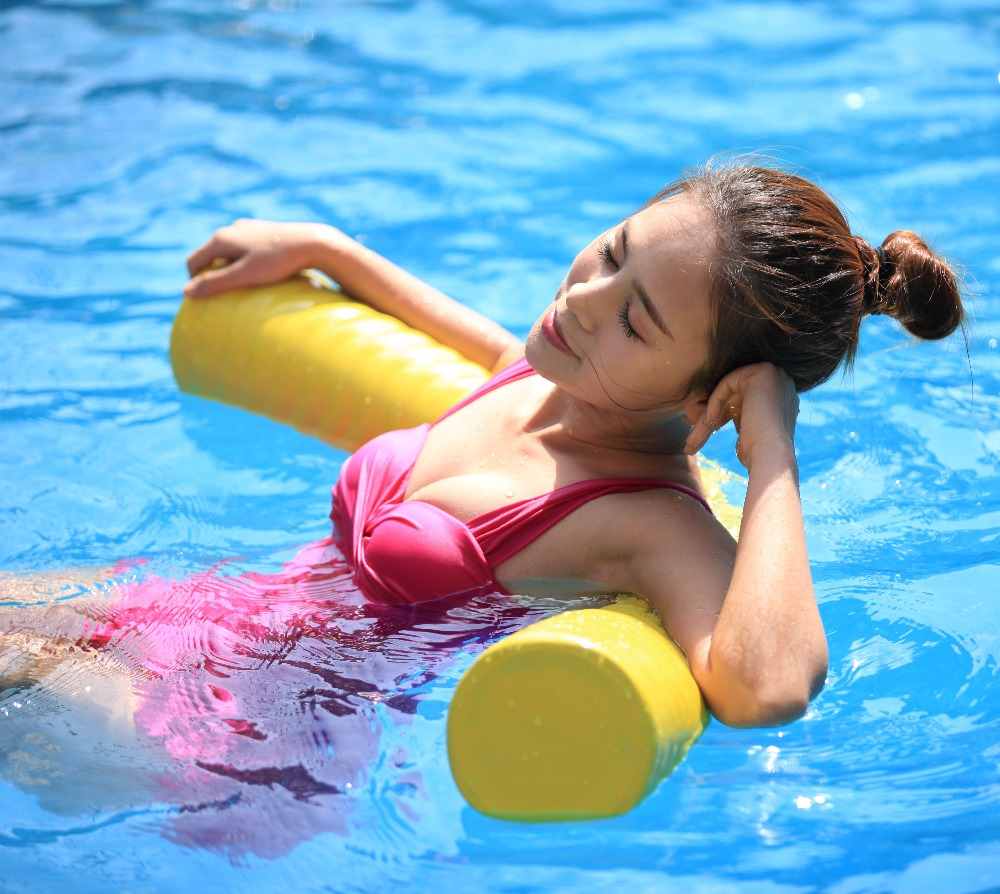 Soft Swimming Foam Pool Noodles Vinyl Coated NBR Foam Noodle Float for Adults Kids Relax, Exercise,Flotation and Swim Aid-46x6