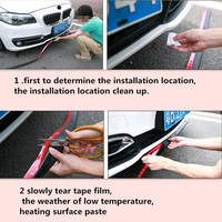 Car Protectors Front Bumper Lip Splitter for ford audi q7 w212 nissan juke lexus is200 toyota estima opel insignia audi tt