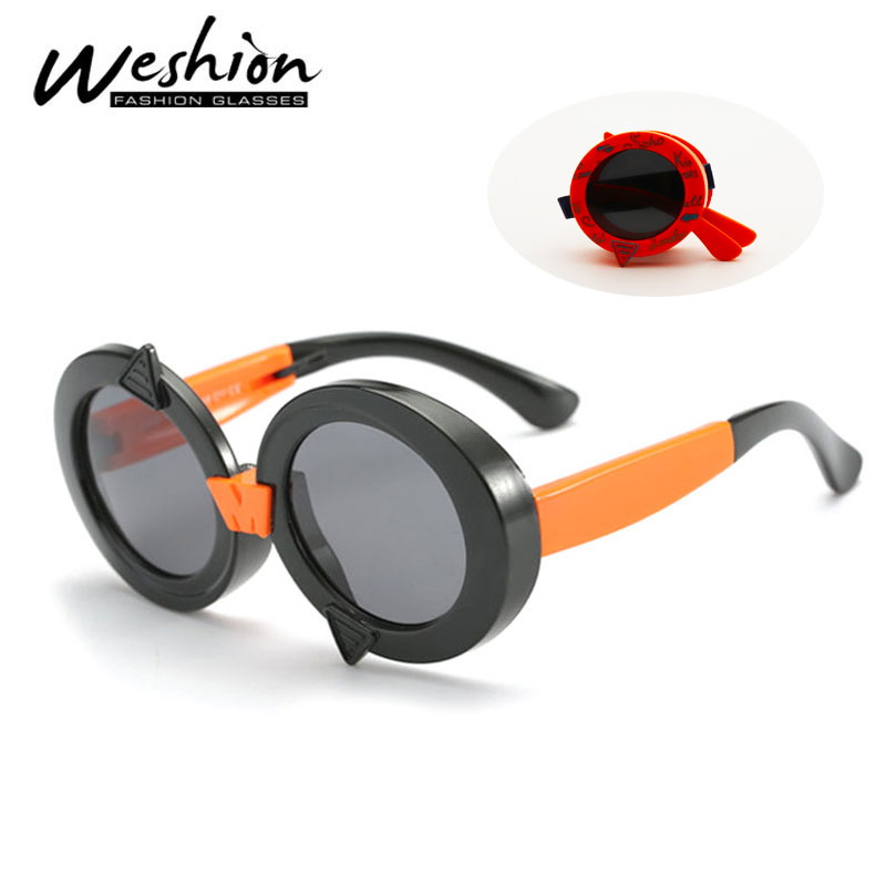 Zielstrebig Runde Faltbare Kinder Sonnenbrille Polarisierte Kinder 2018 Sonnenbrille Gelb Karton Junge Mädchen Flexible Marke Brille Uv400 Oculo