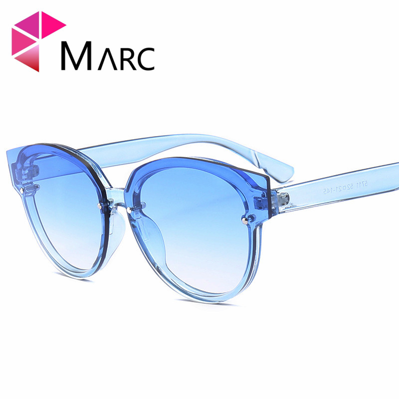 MARC UV400 2018 NEW WOMEN MEN sunglasses Cat eye Gradient Red Brown Plastic Clear in Women 39 s Sunglasses from Apparel Accessories