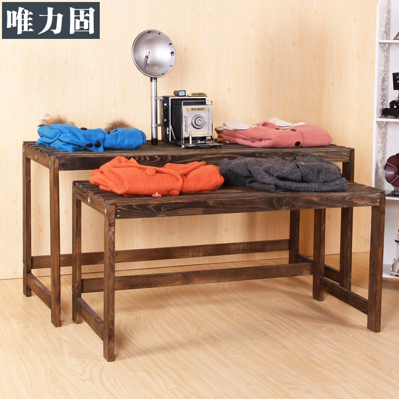 Upgrade Smooth Wooden Water Table Fashionable Clothing Store Window Display  Props Landing In The Island Shelf In Dining Tables From Furniture On ...