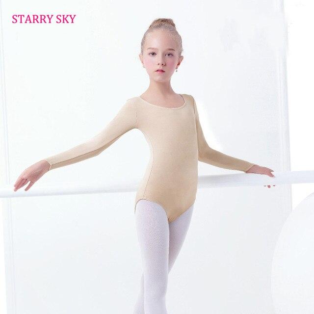 Langen Ärmeln Kinder Haut Farbige Ballett Tanzen Trikot