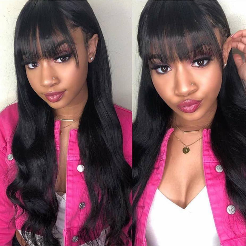 Lace Front Human Hair Wigs Pre Plucked 130 Density Brazilian Body Wave Wigs For Women Remy