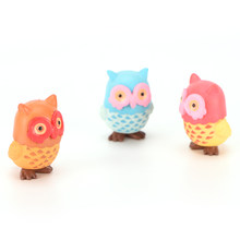 SHNGki 1Pc Fairy Garden Owl Moss Micro Landscape Resin Craft Pastoral Ornament Miniature Terrarium Figurine Decoration 3.1*4.1cm(China)