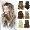 "20"" Hair Extension 7pcs/set Hair Extension Wavy Curly Synthetic Clip In Hair Extentions cheveux extension clip aplique de cabelo"