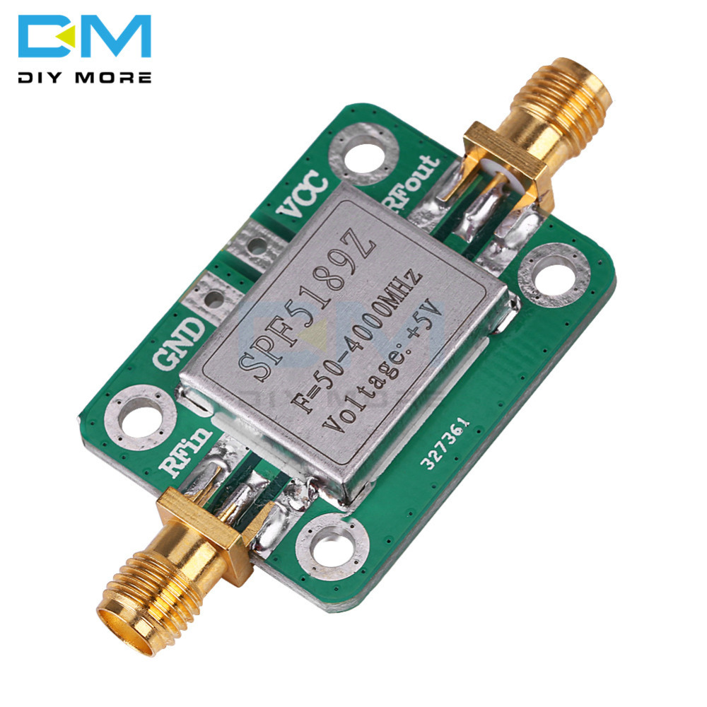LNA 50-4000 MHz RF SPF5189 NF 0.6dB Low Noise Amplifier Signal Receiver Board Wireless Communication Module With Shield Shell