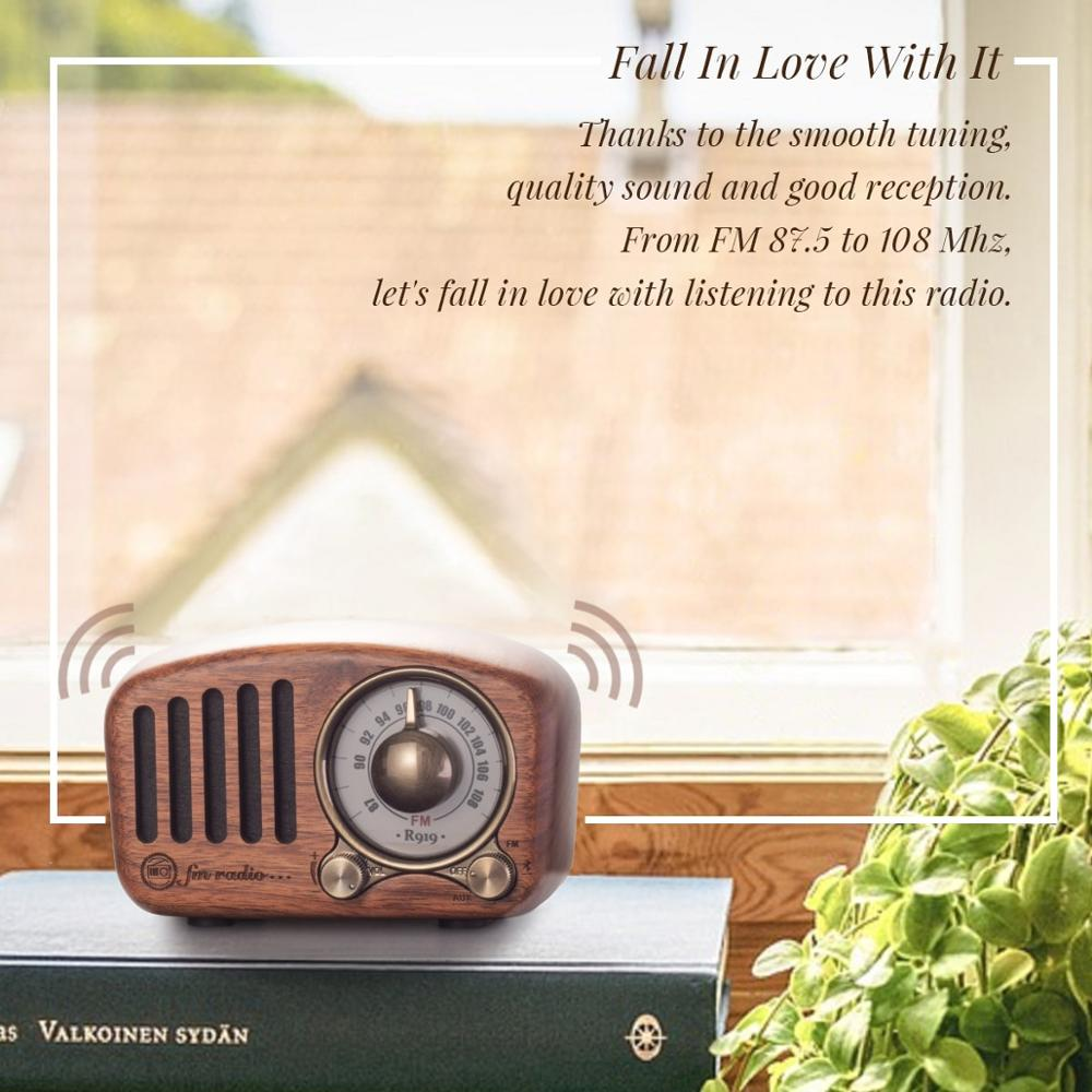 Image 3 - PRUNUS J 919 Classical retro radio receiver portable mini Wood FM SD MP3 Radio stereo Bluetooth Speaker AUX USB Rechargeable-in Radio from Consumer Electronics
