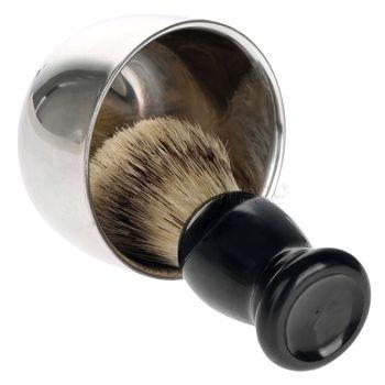 Shaving Brush Set  Shaving Razor Badger Hair Shaving Brush With Stand Holder Beard Shaving Kit Soap Bowl Cleaning Brush 4