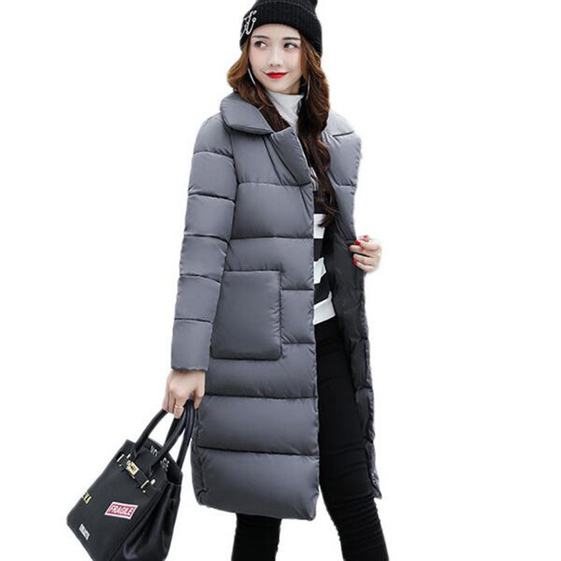Winter Women Jacket 2017 New Fashion Parkas Mujer Women Thick Padded-cotton Long Coats Female Abrigos Mujer Plus Size Outwear 16 metal drill press quill feed return coil spring assembly 70mm