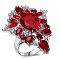 2016 new engagement ring fine jewelry AAA Cubic Zirconia wedding jewelry gold plated natural stone ring  free shipping