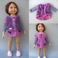 "2 в 1 Куклы для 18 ""American Girl кукла платье + жилет для 45 см куклы"