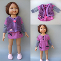 "2 in 1 Doll Clothes for 18"" American Girl doll dress + vest for 45 cm doll"