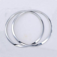 2pcs Car ABS Interior Chrome TOP Roof Speaker Ring Cover Trim Frame Decoration For Wrangler 2008-2014 Car Stickers Car Styling