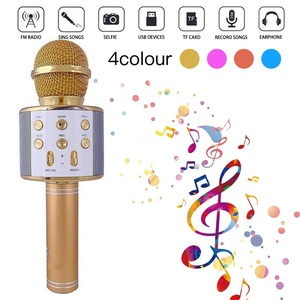 Image 2 - WS858 Wireless Bluetooth Microphone Karaoke Speaker High end Version Mic KTV Player Phone Mike For Computer Stage Conference